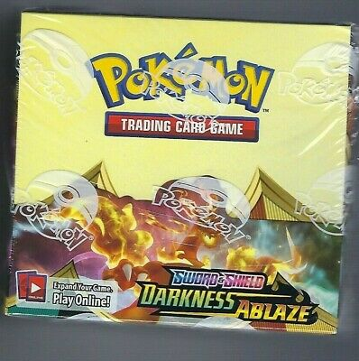 Sword - Shield Darkness Ablaze Factory Sealed Booster Box 36 ct NEW Pokemon TCG