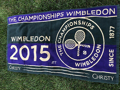 Rare Genuine 2015 Wimbledon Tennis Men's Championships Towel