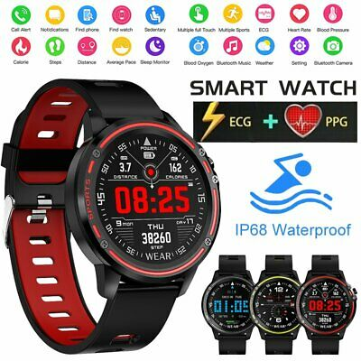 Bluetooth Heart Rate Monitor Fitness Waterproof Smart Watch IP68 For iOS Android
