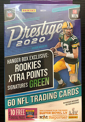 2020 Panini Prestige Football Hanger Box Joe Burrow Tua rookie auto prizm