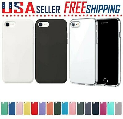 For Apple iPhone SE 2 - 2020 Soft Gel Silicone Full Cover Case Slim Protection🔵