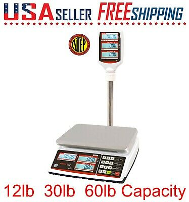 TVP Price Computing Pole Scale Lb Oz Kg switchable NTEP Battery Operated