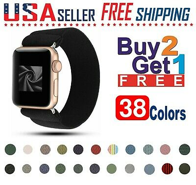 For Apple Watch Woven Nylon Band Sport Loop SE654 3 2 1 iWatch 44424038