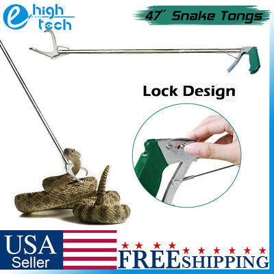 47 Wide Jaw Heavy Duty Snake Tongs Stick Grabber Reptile Catcher Handling Tool