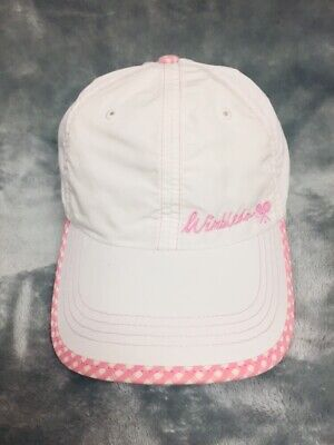 Official Wimbledon Tennis Pink Lightweight Cap Hat Adjustable Strapback Running