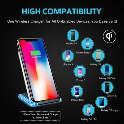 Seneo Qi Wireless Fast Charging Cell Phone Dock Stand Holder For iPhone Samsung