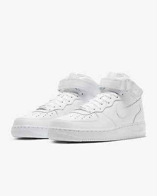 NIKE AIR FORCE 1 MID 07 TRIPLE WHITE 315123 111 sizes 4Y-14 BRAND NEW IN BOX