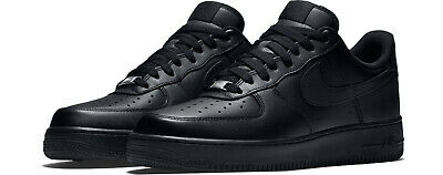 NIKE AIR FORCE 1 07 TRIPLE BLACK 315122 001 Mens sizes 4Y-14 BRAND NEW IN BOX