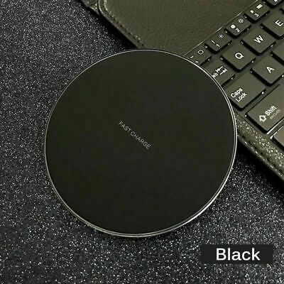 LED Qi Wireless Fast Charger Pad Dock For OEM iPhone Samsung Android Cell Phones