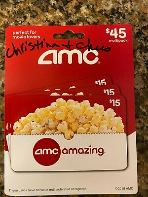 45 AMC Theatres Gift Card - SAVE  NOW - NEW  UNUSED 100 GUARANTEE