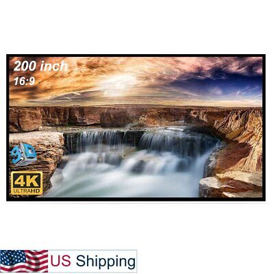 200-inch Large Projector Screen 169 Hanging Projection Screen Movie Screen