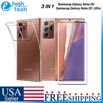 Samsung Galaxy Note 20 Ultra Tempered Glass Screen Film TPU Case Lens Protector