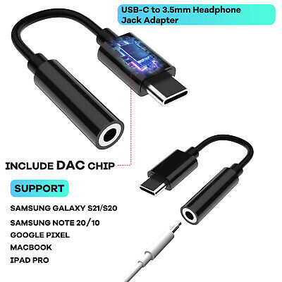 For Samsung S21S20 FENote20 Ultra USB C To 3-5mm Headphone Jack Adapter Cable