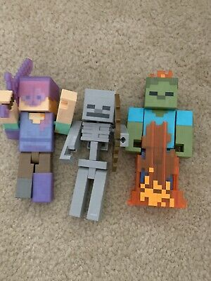 Minecraft Toy 5-5 Mattel 2015 Lot Of 3 Free Shipping