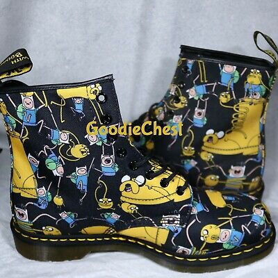 Adventure Time X Dr-Martens Boots mens size 12  Finn the Human Jake the Dog