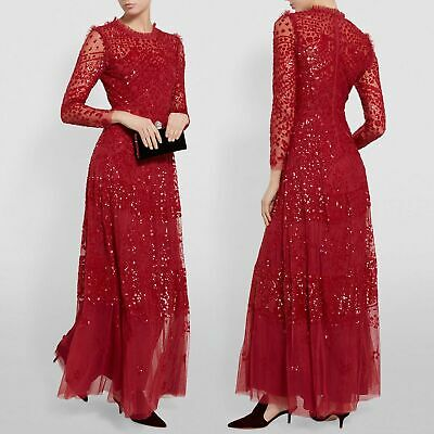 BNWT Needle - Thread Aurora Evening Dress Red UK6 US2 Kate Middleton sequin gown