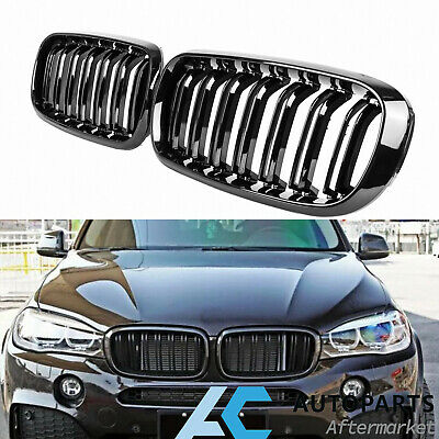 Front Kidney Grille Grill for 2014-2018 BMW X5 X6 F15 F16 Gloss Black