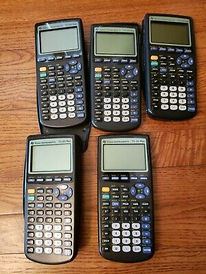 LOT of 5 TI 83 Plus Graphing Calculator Texas Instruments For Repair Parts