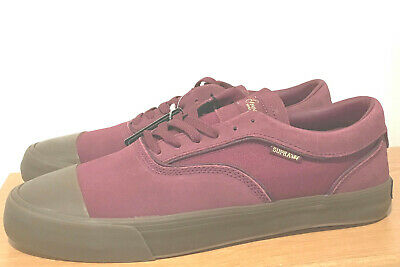 BRAND NEW MENS SUPRA HAMMER GRECO BURGUNDY CANVAS SHOES - SIZE 12