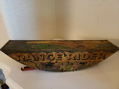 1930s Marx Range Rider Tin Litho Base Bottom Toy As Is For Parts