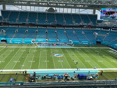 2 Tix  50 Yard Line - Orange Parking Pass Mia Dolphins Vs NE Patriots 1220