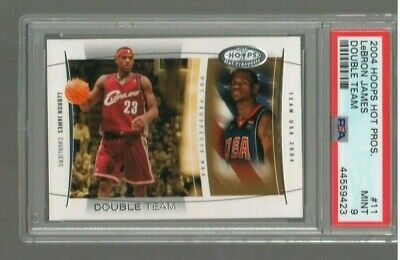 LEBRON JAMES 2004-05 Hoops Hot Prospects Double Team PSA 9 MINT 2ND YEAR LOW POP
