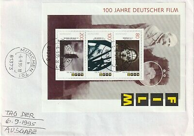 1995 Germany FDC cover 100th Anniversary of Germany Cinema