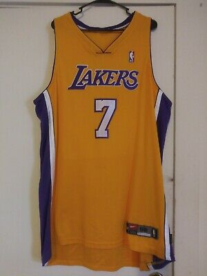 Authentic Nike los angeles lakers jersey Sz 52 dri-fit sewn NBA