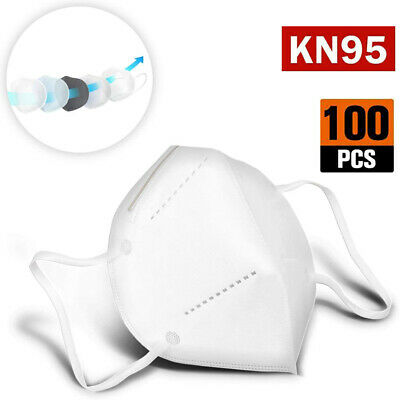 40  100 PCS  KN95 Protective 5 Layer Face Mask Disposable Respirator BFE 95
