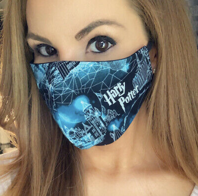 Harry Potter Face Mask Hogwarts Facemask Wizard Halloween Spell Awesome