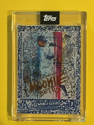 Mookie Betts 2020 Topps X Gregory Siff Card WORLD SERIES - ENCASED MINT