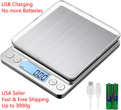 Portable 3000g x 0-1g Digital LCD Scale Jewelry Kitchen Food Balance Weight Gram