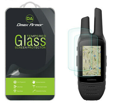2-Pack Dmax Armor Tempered Glass Screen Protector for Garmin Rino 750  755T