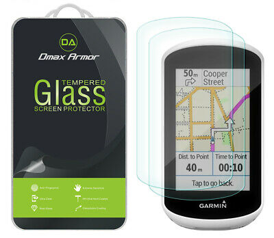 2-Pack Dmax Armor Tempered Glass Screen Protector for Garmin Edge Explore