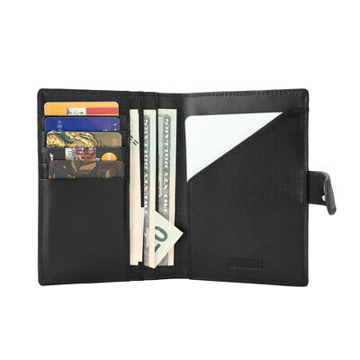 RFID Blocking Leather Passport Holder ID Credit Card Cover Case Travel Wallet US