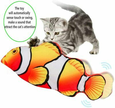 Electric Realistic Interactive Fish Cat Kicker Dancing Flipping Pet Cat Toy Gift