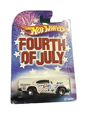 🔥 HOT WHEELS FOURTH OF JULY 57 CHEVY NICE 🔥