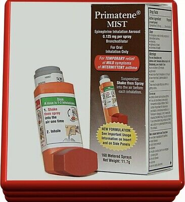 Primatene Mist inhalation Aerosol Asthma Relief 160 Sprays Non Prescription