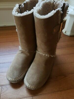 Tory Burch Moccasin Boots-