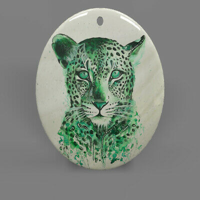 Fashion Jewelry Pendant Necklace Tiger Mother of Pearl Shell Oval R1706 1514