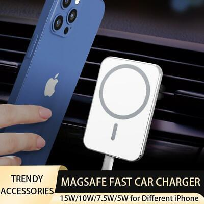 MAGSAFE COMPATIBLE 15W WIRELESS CAR CHARGER PAD FOR IPHONE 12 MINI PRO MAX