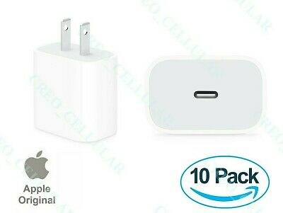 ORIGINAL APPLE 18w USB-C Fast Charge Wall Charger For iPhone 11  Pro  Max LOT