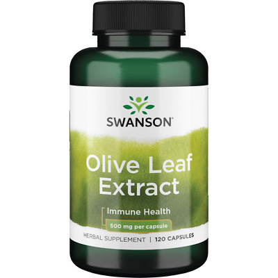 Swanson Olive Leaf Extract Capsules with 20 Oleuropein - Provides Immune Sup-