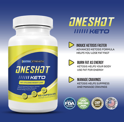 One Shot Keto Diet Pill Advanced Weight Loss Metabolic Support 60 Pills