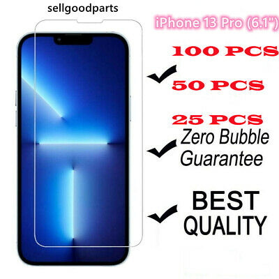 100x Wholesale Lot Tempered Glass Screen Protector for iPhone 12 11 8 7 6 Plus