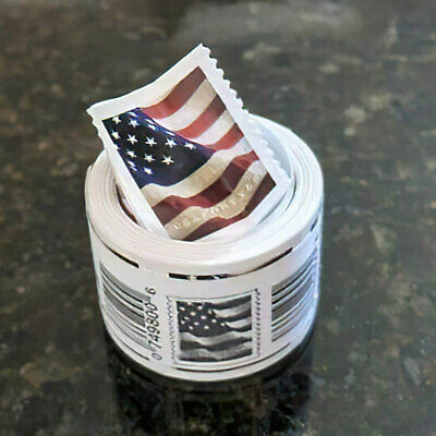 Roll of 100 Stamps USPS 2017 US Flag Forever Postage Stamps Free - Fast Shipping