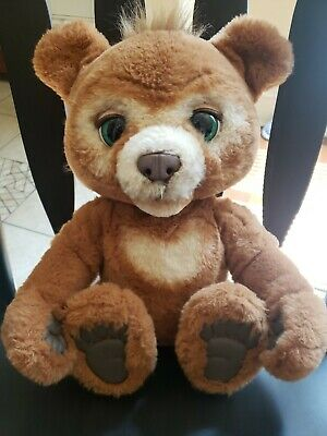FurReal Friends Super Soft CUBBY the Curious Bear Interactive Plush ey