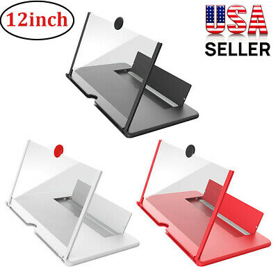 12 Mobile Phone Screen Magnifier Pull-out Stand Bracket HD 3D Video Amplifier