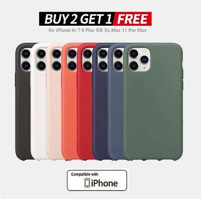 Silicone iPhone Protective Case Cover For iPhone11 Pro Max XR Xs Max 6 7 8 Plus