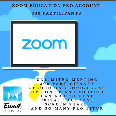 Zoom Meeting Account Education Pro License 300 Participant 1 Month